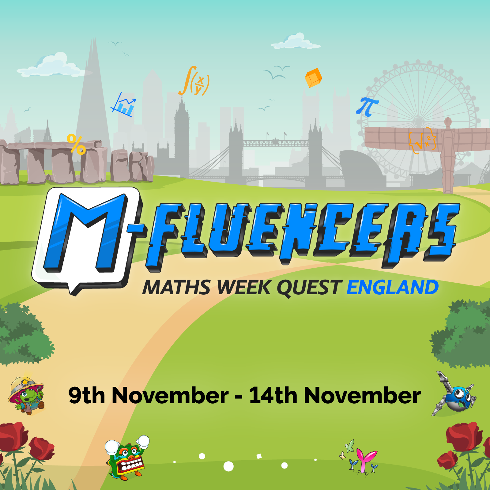 M-Fluencers Maths Week Quest: England